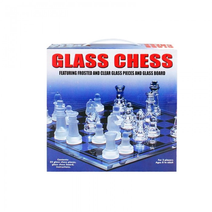 Стилен стъклен шах - голям