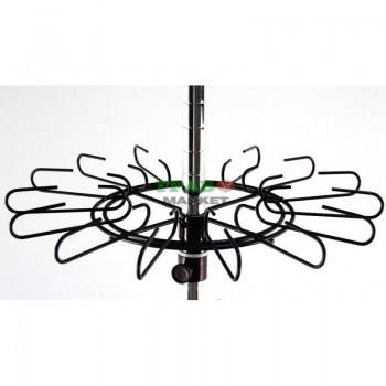 Стелаж метал тип въртележка, с възможност за стопиране на колелцата