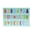 Светеща табела с букви и символи