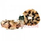 Секси белезници с пухчета леопардови