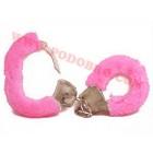 Секси белезници с пухчета розови