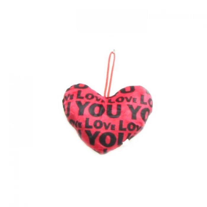Плюшено сърце с надписи Love - малко